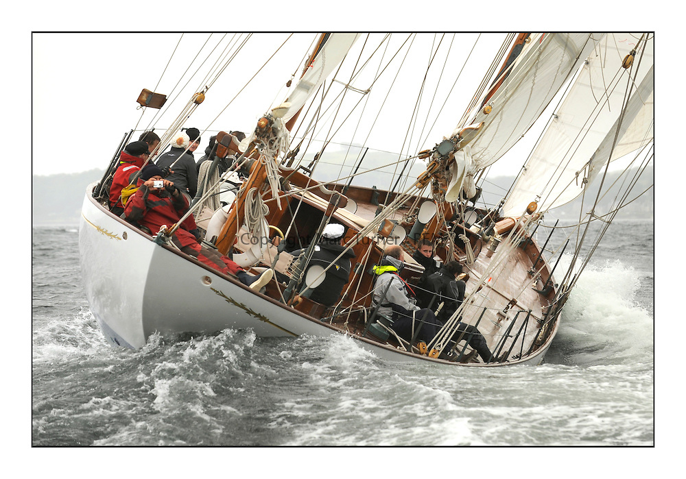 Day two of the Fife Regatta,Passage race to Rothesay.<br /> <br /> Latifa, 8, Mario Pirri, ITA, Bermudan Yawl, Wm Fife 3rd, 1936<br /> * The William Fife designed Yachts return to the birthplace of these historic yachts, the Scotland&rsquo;s pre-eminent yacht designer and builder for the 4th Fife Regatta on the Clyde 28th June&ndash;5th July 2013<br /> <br /> More information is available on the website: www.fiferegatta.com