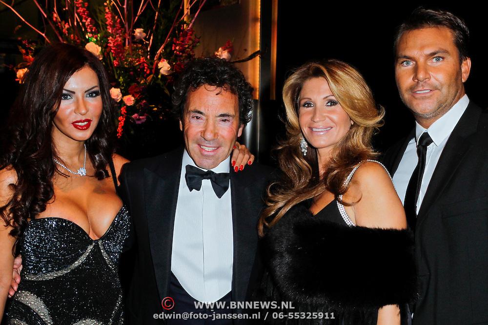 NLD/Amsterdam/20111208- VIP avond Miljonairfair 2011, Ronnie Rosenbaum en partner Madi en Yvonne Dubbelboer en partner Marcel Priessen