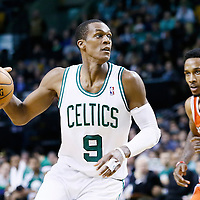 21 December 2012: Boston Celtics point guard Rajon Rondo (9) drives past Milwaukee Bucks point guard Brandon Jennings (3) during the Milwaukee Bucks 99-94 overtime victory over the Boston Celtics at the TD Garden, Boston, Massachusetts, USA.