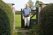 Will Gissane, coming in from the vineyard at his Herefordshire home<br /> CREDIT: Vanessa Berberian for The Wall Street Journal<br /> HOBBY-Gissane/UK