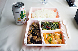 Lunch on high speed train between Beijing and Shanghai in China