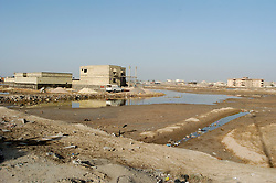 Housing on the outskirts of Basra city Iraq March 2005