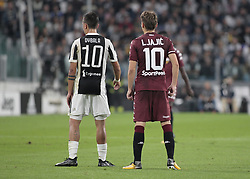 September 23, 2017 - Turin, Italy - Paulo Dybala and Adem Ljajic during Serie A match between Juventus v Torino, in Turin, on September 23, 2017  (Credit Image: © Loris Roselli/NurPhoto via ZUMA Press)