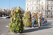Vertical gardening at Plaza de Cibeles, Madrid, Spain