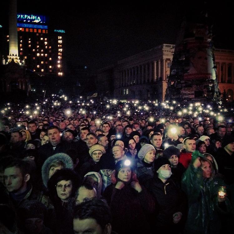 Big crowds for former PM Yulia #tymoshenko, Feb. 22, 2014. #euromaidan #kyiv #ukraine #київ #україна #евромайдан #тимошенко #primecollective