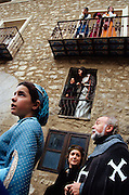 SPAIN / Aragon / Teruel. Medieval recreations in Spain.  The city rememorates the story of lovers Isabel de Segura and Diego Marcilla, known as Los Amantes de Teruel.....