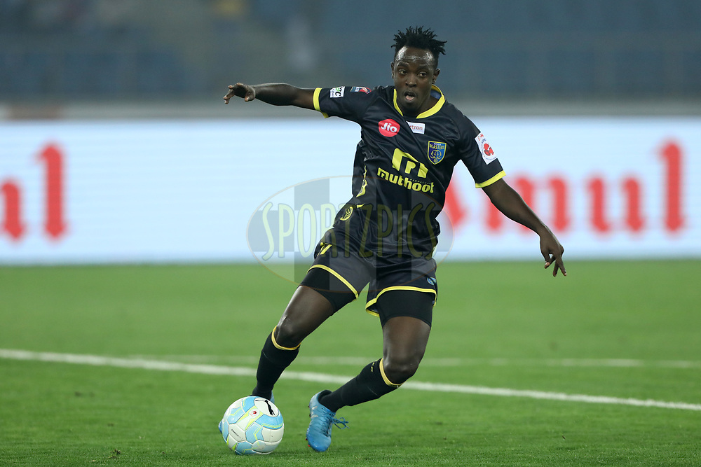 keziron Kizito of Kerala Blasters FC during match 43 of the Hero Indian Super League between Delhi Dynamos FC and Kerala Blasters FC  held at the Jawaharlal Nehru Stadium, Delhi, India on the 10th January 2018<br /> <br /> Photo by: Arjun Singh  / ISL / SPORTZPICS