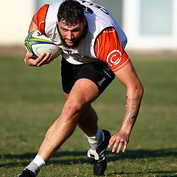 DURBAN, SOUTH AFRICA - MAY 21: Ruan Botha of the Cell C Sharks during the Cell C Sharks training session at Jonsson Kings Park on May 21, 2019 in Durban, South Africa. (Photo by Steve Haag/Gallo Images)