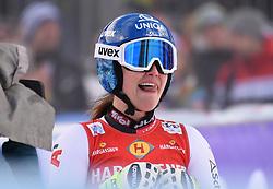 11.01.2020, Keelberloch Rennstrecke, Altenmark, AUT, FIS Weltcup Ski Alpin, Abfahrt, Damen, im Bild Alice Merryweather (USA) // Alice Merryweather of the USA reacts after her run for the women's Downhill of FIS ski alpine world cup at the Keelberloch Rennstrecke in Altenmark, Austria on 2020/01/11. EXPA Pictures © 2020, PhotoCredit: EXPA/ Erich Spiess