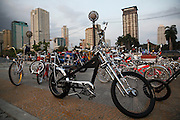 Customised bicycles. Boulevard Roxas, Manila bay. Manilla,  Philippines.<br />