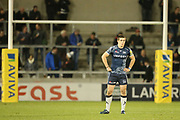A J MacGinty during the Aviva Premiership match between Sale Sharks and Gloucester Rugby at the AJ Bell Stadium, Eccles, United Kingdom on 29 September 2017. Photo by George Franks.