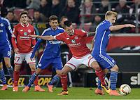 Fotball , v.l. Danny Latza, Johannes Geis (Schalke)<br /> Mainz, 12.02.2016, Fussball Bundesliga, 1. FSV Mainz 05 - FC Schalke 04<br /> Norway only
