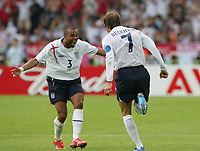 - 25.06.2006 - Angleterre / Equateur - 1/4 de Finale -  Coupe du Monde 2006 <br /> <br /> Photo : Raphael Vergnaud / Icon Sport *** Local Caption ***