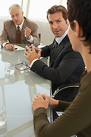 Businesspeople in conference meeting
