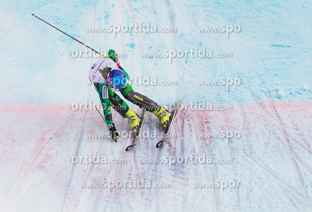16.02.2013, Planai, Schladming, AUT, FIS Weltmeisterschaften Ski Alpin, Slalom, Damen, 2. Durchgang, im Bild Tanja Poutiainen (FIN) // Tanja Poutiainen of Finland in action during 2nd run of the ladies Slalom at the FIS Ski World Championships 2013 at the Planai Course, Schladming, Austria on 2013/02/16. EXPA Pictures © 2013, PhotoCredit: EXPA/ Johann Groder
