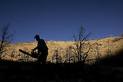 (WILD HORSE GATHER, NEVADA)   Cold Springs, Nevada Oct. 24, 2006   Jake Casey (cq), 25, gathers wood for the upcoming winter near his family's ranch just East of Fallon, Nev. on October 24, 2006.   (Suarez, Essdras M/ Globe staff)/ Travel
