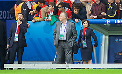LILLE, FRANCE - Friday, July 1, 2016: Wales' team operations manager Amanda Smith before the UEFA Euro 2016 Championship Quarter-Final match against Belgium at the Stade Pierre Mauroy. (Pic by David Rawcliffe/Propaganda)