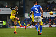 Burton Albion's Jacob Davenport shoots during the EFL Sky Bet Championship match between Ipswich Town and Burton Albion at Portman Road, Ipswich, England on 10 February 2018. Picture by John Potts.