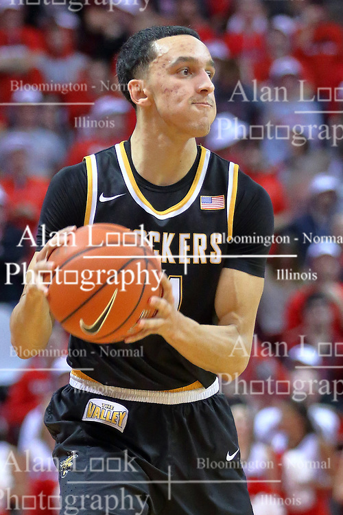14 January 2017:  Landry Shamet during an NCAA  MVC (Missouri Valley conference) mens basketball game between the Wichita State Shockers the Illinois State Redbirds in  Redbird Arena, Normal IL