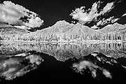 Clouds reflected in Lorette Ponds<br />