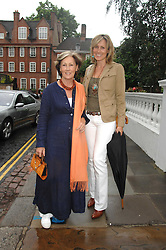 Left to right, PATTI PALMER-TOMPKINSON and her daughter SANTA SEBAG-MONTEFIORE at the annual Sir David & Lady Carina Frost Summer Party in Carlyle Square, London SW3 on 5th July 2007.<br /><br />NON EXCLUSIVE - WORLD RIGHTS