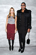 Charlotte Ronson and EJ Johnson attend the Charlotte Ronson presentation during the Mercedes-Benz Fall/Winter 2015 shows at the Pavilion in Lincoln Center in New York City, New York on February 13, 2015.