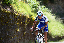 Annelies Dom (Lensworld Zannata) on Mortirolo at Giro Rosa 2016 - Stage 5. A 77.5 km road race from Grosio to Tirano, Italy on July 6th 2016.