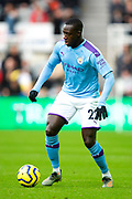Benjamin Mendy (#22) of Manchester City during the Premier League match between Newcastle United and Manchester City at St. James's Park, Newcastle, England on 30 November 2019.