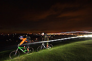night time mountain biking in the Chiltern Hills, Buckinghamshire, England