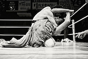 Wrestlers do battle during Doglegs, an event for wrestlers with physical and mental handicaps in Tokyo, Japan.
