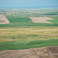 unfinished power line conservation photography - blackfeet oil