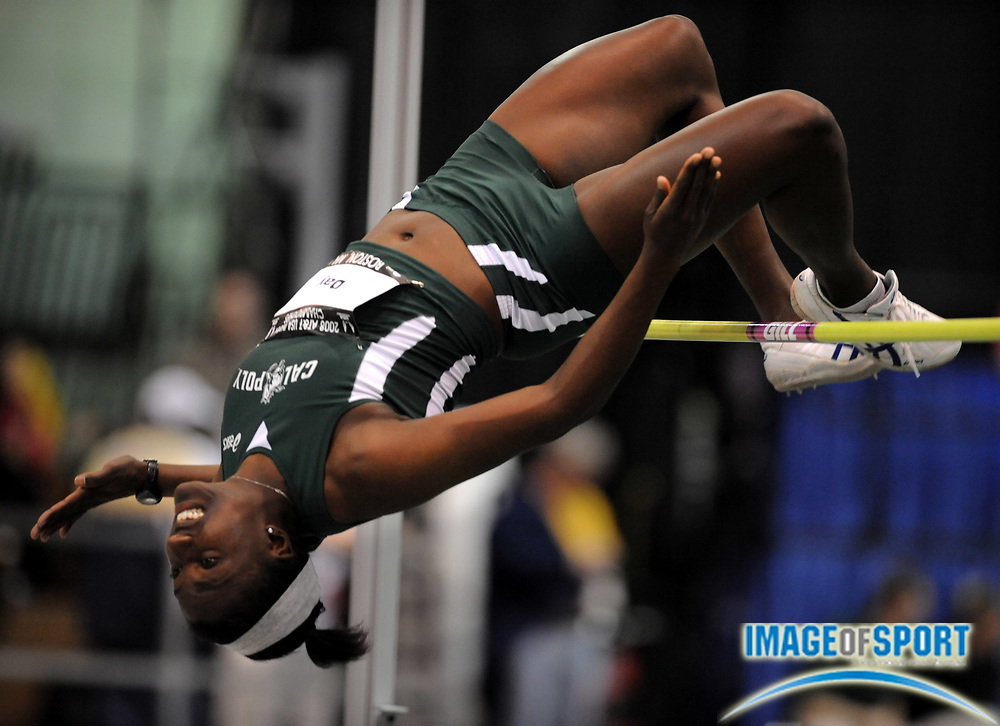 Feb 23, 2008; Boston, MA, USA; Sharon Day of Cal Poly San Luis Obispo was fifth in the women's high jump at 5-10 3/4 (1.80m) in the AT&T USA Track & Field Indoor Championships at the Reggie Lewis Center.
