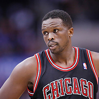 24 November 2013: Chicago Bulls small forward Luol Deng (9) rests during the Los Angeles Clippers 121-82 victory over the Chicago Bulls at the Staples Center, Los Angeles, California, USA.