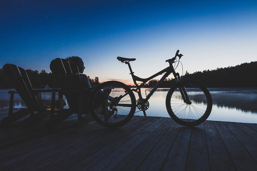 Post sunset moment on Saranac Lake, Ampersand Bay Resort, New York.