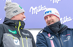 12.03.2018, Lysgards Schanze, Lillehammer, NOR, FIS Weltcup Ski Sprung, Raw Air, Lillehammer, im Bild Cheftrainer Andreas Mitter (FIN), Cheftrainer Richard Schallert (CZE) // Austrian Headcoach Andreas Mitter of Finland, Austrian Headcoach of Czech Republic Richard Schallert during the 2nd Stage of the Raw Air Series of FIS Ski Jumping World Cup at the Lysgards Schanze in Lillehammer, Norway on 2018/03/12. EXPA Pictures © 2018, PhotoCredit: EXPA/ JFK