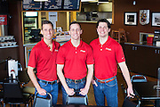 Feltner Brothers at their hamburger restaurant in Fayetteville Arkansas