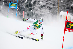 Dominik Raschner of Austria competes during 1st run of Men's GiantSlalom race of FIS Alpine Ski World Cup 57th Vitranc Cup 2018, on March 3, 2018 in Kranjska Gora, Slovenia. Photo by Ziga Zupan / Sportida