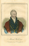 Matthew Wood (1768-1843) English political and municipal reformer. Serge manufacturer, Lord Mayor of London, friend and advisor to Queen Caroline. Hand-coloured engraving, 1820