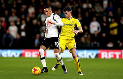 Thomas Ince of Derby County takes on Tom Flanagan of Burton Albion in front of Sky Bet advertising boards - Mandatory by-line: Robbie Stephenson/JMP - 21/02/2017 - FOOTBALL - iPro Stadium - Derby, England - Derby County v Burton Albion - Sky Bet Championship
