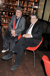 Left to right, RON ARAD and SIR NORMAN ROSENTHAL at W London - Leicester Square for the Liberatum Cultural Honour in Spice Market for John Hurt, CBE in association with artist Svetlana K-Lié on 10th April 2013.