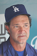 LOS ANGELES - JUNE 22:  Manager Don Mattingly #8 of the Los Angeles Dodgers talks to the media before the game against the Detroit Tigers at Dodger Stadium on Wednesday, June 22, 2011 in Los Angeles, California.  The Tigers defeated the Dodgers 7-5.  (Photo by Paul Spinelli/MLB Photos via Getty Images) *** Local Caption *** Don Mattingly