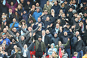 Happy Man City fans during the Premier League match between Stoke City and Manchester City at the Bet365 Stadium, Stoke-on-Trent, England on 12 March 2018. Picture by Graham Holt.
