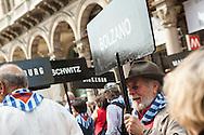 25 aprile, Festa della Liberazione. Milano, 2014. Spezzone dell'associazione deportati.