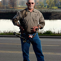 Bow hunter Dick Mahnesmith pictured at Lunker's in Edwardsburg.<br />