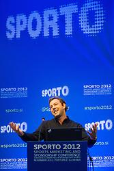 Sports marketing and sponsorship conference Sporto 2012, on November 27, 2012 in Hotel Slovenija, Congress centre, Portoroz / Portorose, Slovenia. (Photo By Vid Ponikvar / Sportida.com)