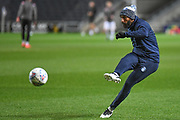 Wycombe Wanderers forward Josh Parker (27) during the EFL Trophy match between Milton Keynes Dons and Wycombe Wanderers at stadium:mk, Milton Keynes, England on 12 November 2019.