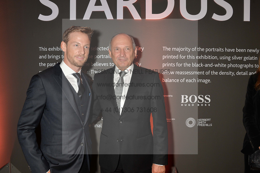 Left to right, JENSON BUTTON and RON DENNIS at a private view of photographs by David Bailey entitled 'Bailey's Stardust' at the National Portrait Gallery, St.Martin's Place, London on 3rd February 2014.