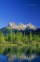 Three Sisters Mountains, Canmore, Alberta, Canada