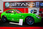 SEMA 2011 in Las Vegas Nevada, an automobile after market show. Gitano GT3 Electric sports car by Michele Motorsports.