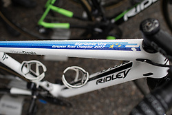 The bike of Marianne Vos (NED)  of Waowdeals Pro Cycling Team before the Trofeo Alfredo Binda - a 131,1 km road race, between Taino and Cittiglio on March 18, 2018, in Varese, Italy. (Photo by Balint Hamvas/Velofocus.com)